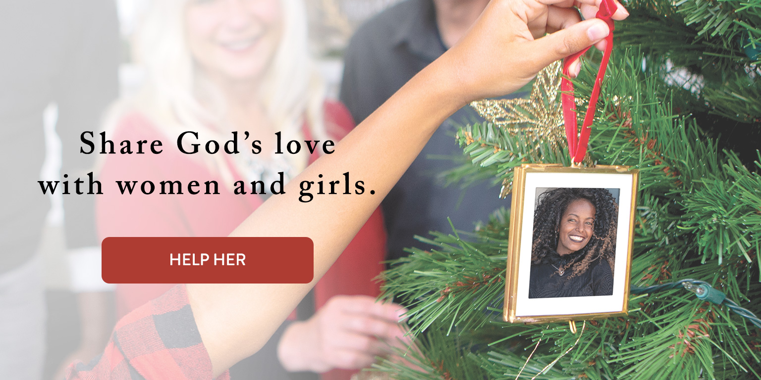 Christmas tree themed ad for Project grl
