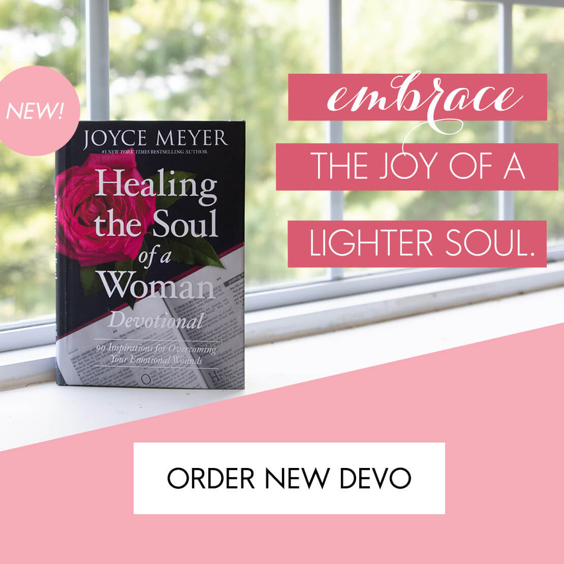 Ad for Healing The Soul of A Woman Devotional