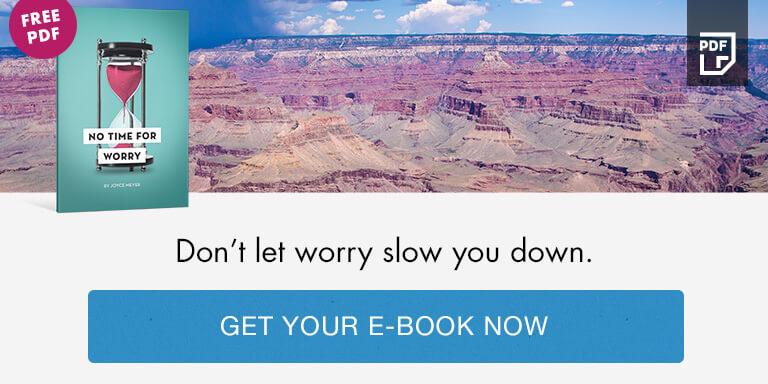 Don't let worry slow you down - Get your e-book now
