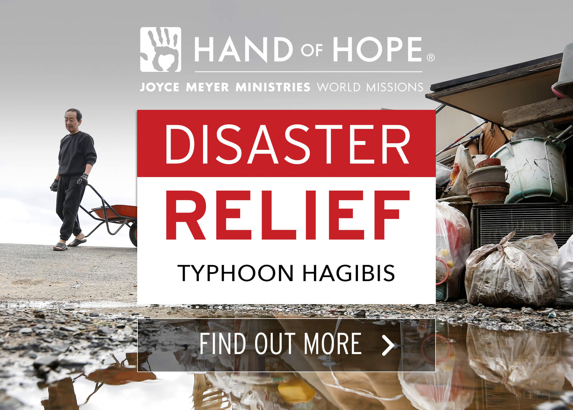 Hand of Hope, providing relief after Typhoon Hagibis