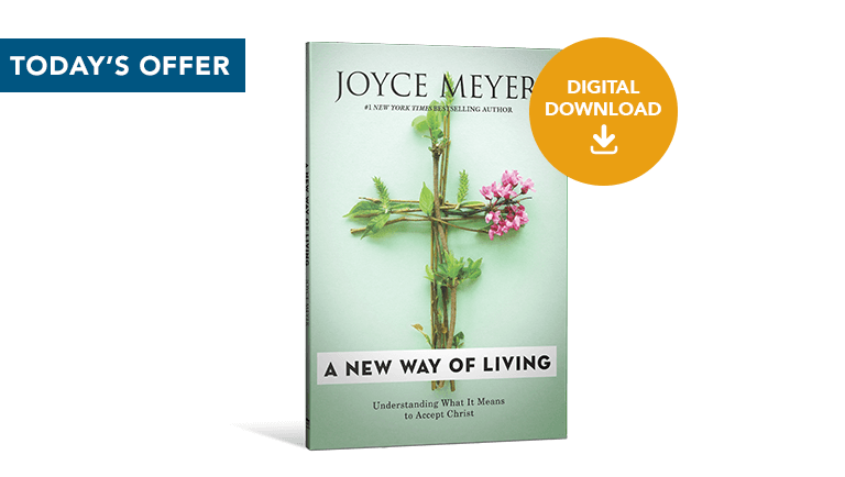 The book A New Way of Living with a label for Digital Download