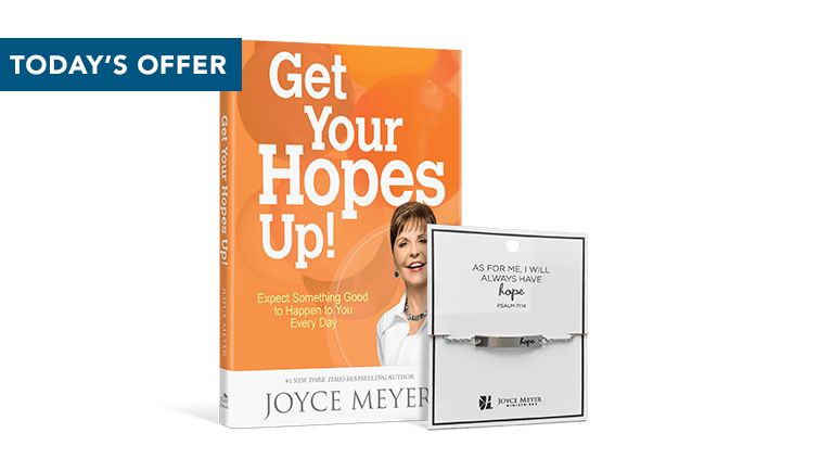 Get Your Hopes Up! Hardcover and Hope Bracelet