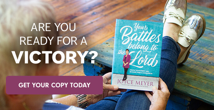"Are you ready for a victory? Get your copy of Joyce's new book, ""Your Battles Belong to the Lord"" Today!"