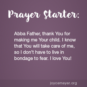 "Joyce Meyer January 23, 2018 - Call God ""Abba"" - by Joyce Meyer"